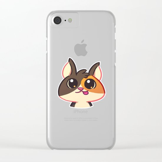 Curious Kitty Cat Clear iPhone Case