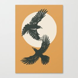 Raven sunset Canvas Print