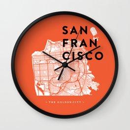 San Francisco Map 04 Wall Clock