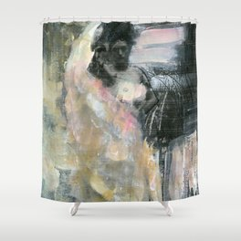 Painted Pink Shower Curtain