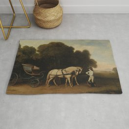 George Stubbs - Phaeton with a Pair of Cream Ponies and a Stable-Lad Rug