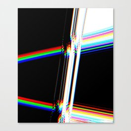 rainbow crack Canvas Print