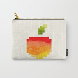 Pixel Watercolor Peach Geometric Fruit Colorful Pink Red Yellow Sunset Colors Carry-All Pouch