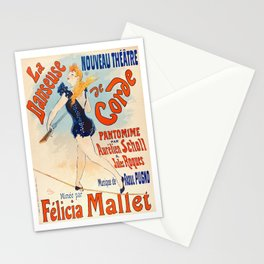 Tightrope Dancer, Vintage poster Stationery Cards