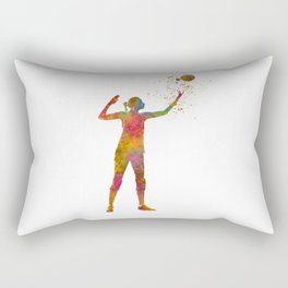 Volleyball player in watercolor Rectangular Pillow