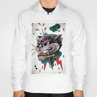 panther Hoodies featuring Panther by fishero