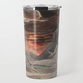 CAIN FLEEING FROM THE WRATH OF GOD - William Blake Travel Mug