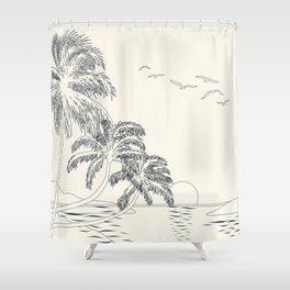 Beach Linescape Shower Curtain