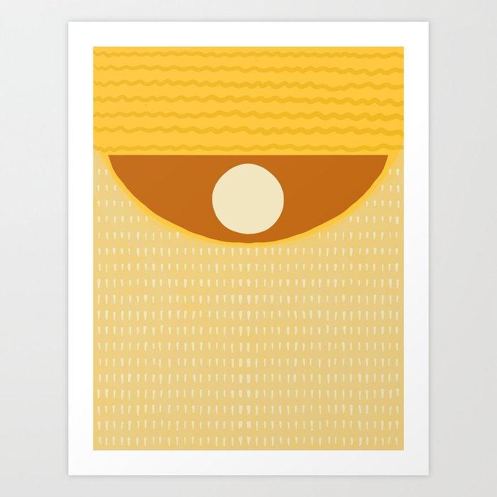 Yellow pattern #1 Art Print