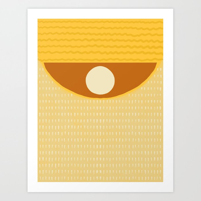 Yellow pattern #1 Art Print