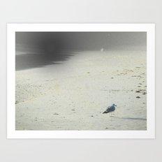 On The Beach, Winter Art Print