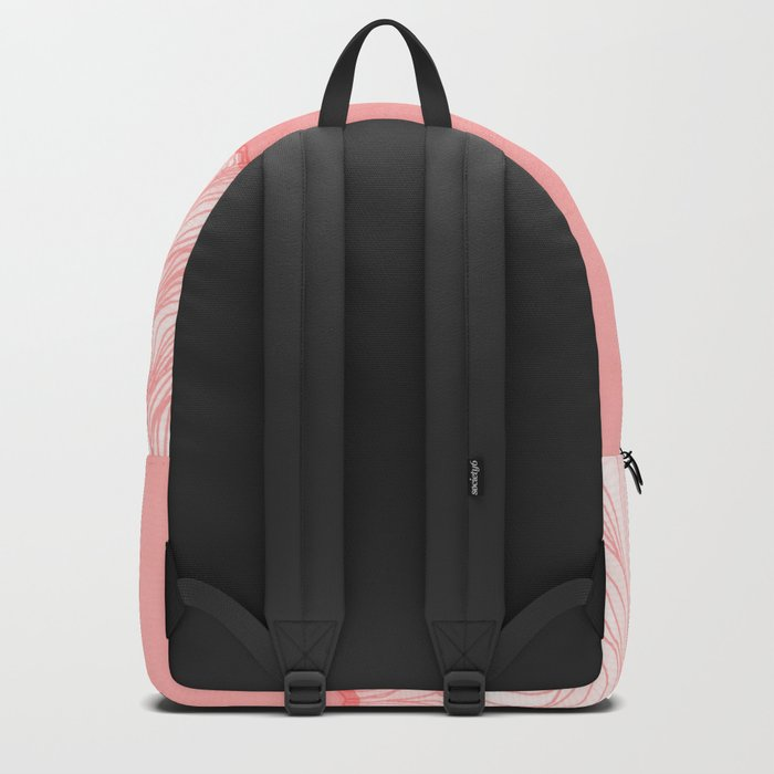 Lines in the mountains - pink Backpack