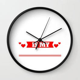 Sorry Girls My Mum Is My Valentine Cupids Hearts Love Date Gift Wall Clock