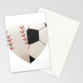 Soccer Baseball Heart Mom - Mothers Day Gifts Stationery Cards