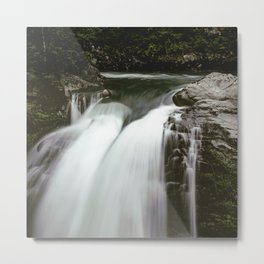 PNW Waterfall Metal Print
