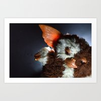 gizmo Art Prints featuring Gizmo  by Erika VBL