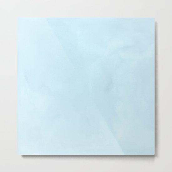 Tropical Waters Blue Watercolor Metal Print
