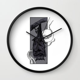 Purple Bat II Wall Clock