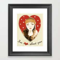 Camilla Willow: I'm Nuts About You Framed Art Print