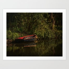 Dinghy On The Oxford Canal Art Print