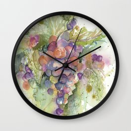 Grapes Wall Clock