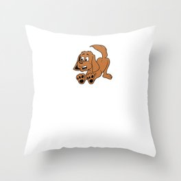 Best Dog Dad Father's Day Throw Pillow