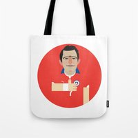 chile Tote Bags featuring Alexis Sanchez - Chile by Gary  Ralphs Illustrations