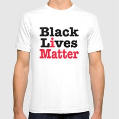 BLACK LIVES MATTER White 2X-LARGE Mens Fitted Tee