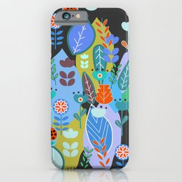 Midnight joyful inflorescence iPhone Case
