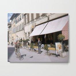Italian Life - Vintage Photography Metal Print