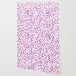 violet garden leaf pattern Wallpaper