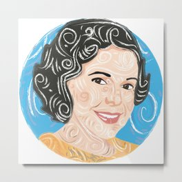 Aunt smiling / Metal Print