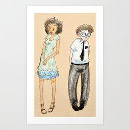 Arnold and Nabulungi Art Print