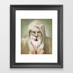 Santa's Secret Framed Art Print