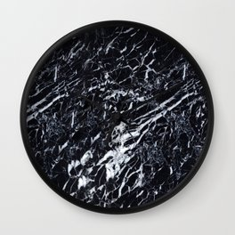 Real Marble Black Wall Clock