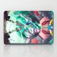 gurren lagann iPad Cases featuring Gurren Lagann - This Drill will pierce the Heavens by Brian Hollins art