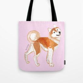Japanese Dog Breeds: Akita Inu Tote Bag