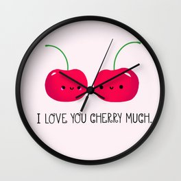 I Love You Cherry Much Wall Clock