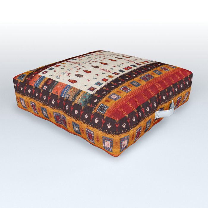 N135 - Heritage Oriental Traditional Moroccan Berber Style Fabric Design Outdoor Floor Cushion