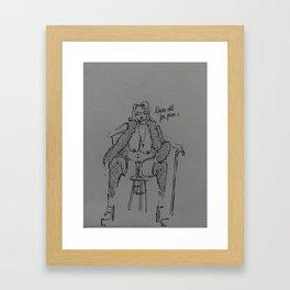 wtf gramma  Framed Art Print