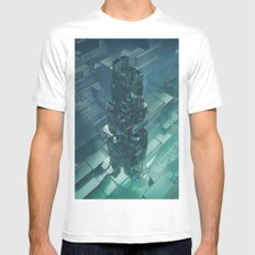 The Last Bastion MEDIUM White Mens Fitted Tee