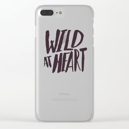 Wild at Heart x Typography Clear iPhone Case