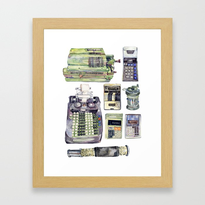 Counting Machines Framed Art Print