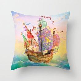 The Dreamship Gallivant Throw Pillow