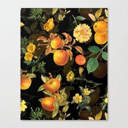 Vintage & Shabby Chic - Midnight Golden Apples Garden Canvas Print