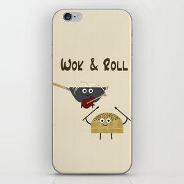 Wok & Roll (with hair) iPhone Skin