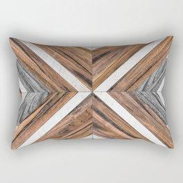 Urban Tribal Pattern No.4 - Wood Rectangular Pillow