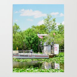 Everglades Safari Boat Poster