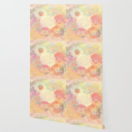 floral painterly effect Wallpaper