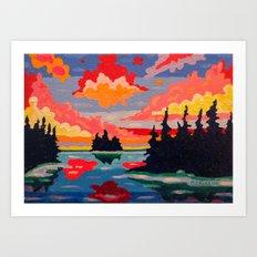 Northern Sunset Surreal  Art Print